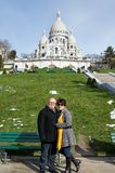 Tourist/Couple in Montmartre Royalty Free Stock Image