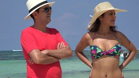 Tourist Couple Summer Vacation. Stock video in 4k or HD resolution stock video