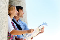 Tourist couple travel Royalty Free Stock Image