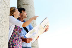 Tourist couple vacation holiday Royalty Free Stock Photo