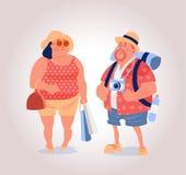 Tourist couple vector illustration Royalty Free Stock Image