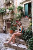 Tourist in Croatia Royalty Free Stock Images