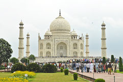Tourist crowd infront of Taj Mahal Royalty Free Stock Image