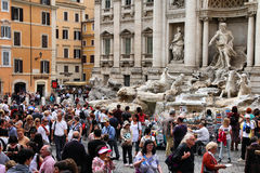 Tourist crowd in Rome Stock Image