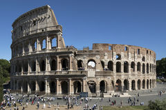 Tourist crowds at the Colosseum - Rome - Italy Royalty Free Stock Photography