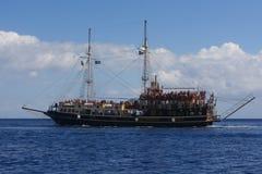 Tourist Cruise Boat on Zakinthos Island Greece Stock Photography
