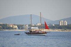 Tourist cruise ship in the Black Sea Royalty Free Stock Photos