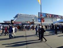 Tourist at Cruise Ship Terminal stock photography