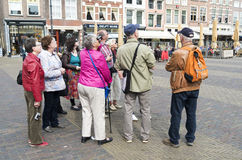 Tourist in Delft, Netherlands. Stock Image