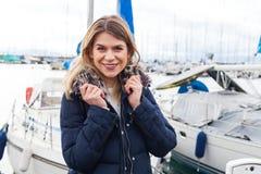 Tourist, der durch Genfersee aufwirft Lizenzfreie Stockfotografie