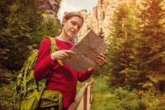 Tourist der jungen Frau Lizenzfreie Stockfotos