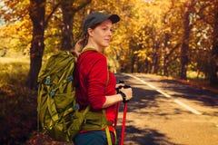 Tourist der jungen Frau Lizenzfreies Stockbild