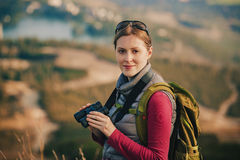 Tourist der jungen Frau Stockbild