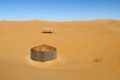 Tourist desert camp Royalty Free Stock Photos