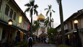 Tourist destination Arab Street stock footage