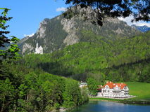Tourist destination Neuschwanstein Bavarian Alps Stock Photos