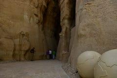 Tourist destination and traveling spot the Al Qarah Mountain. Travelers spot Tourist attraction the Al Qarah Mountain in the Land of Civilization on Saudi Arabia royalty free stock image