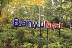 Banyu Nget, Trenggalek, East Java, Indonesia. Tourist destination in Trenggalek, East Java, Indonesia.  Banyu Nget or `warm water` is a managed semi-natural stock image