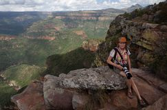 Tourist at Blyde river canyon Royalty Free Stock Images