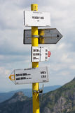 Tourist direction signs royalty free stock image