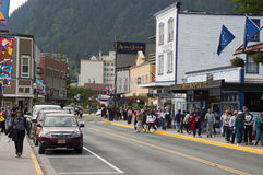 Tourist District in Downtown Juneau Alaska Stock Photos