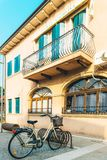 Tourist district of the old provincial town of Caorle in Italy Royalty Free Stock Image