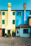Tourist district of the old provincial town of Caorle in Italy Stock Images
