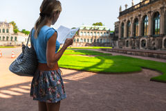 Tourist in Dresden Stock Image