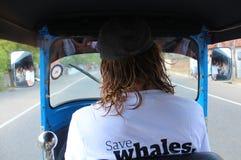 Tourist drives tuk tuk Stock Photos