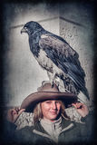 Tourist and an eagle Royalty Free Stock Photos