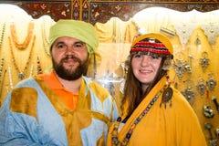 Tourist in einer Reise herein durch Marokko stockbild