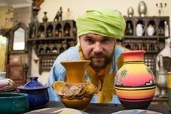 Tourist in einer Reise herein durch Marokko lizenzfreie stockbilder