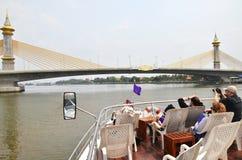 Tourist enjoy the sight of Chao Phraya River in Bangkok Stock Photography