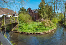 Tourist enjoying Giethoorn village Royalty Free Stock Photo