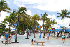 Tourist enjoying life at Times Square in Fort Myers Beach, Florida, USA Royalty Free Stock Photos