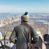 Tourist enjoying in New York City panoramic view. Stock Photos