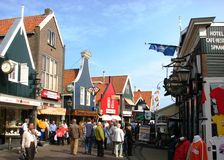 Tourist enjoying a nice summer day, Volendam Royalty Free Stock Image