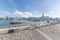 Victoria Harbor of Hong Kong city Royalty Free Stock Photo
