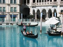 Tourist enjoying at Venetian Hotel in Las Vegas Royalty Free Stock Photos
