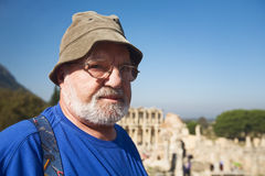 Tourist in Ephesus Stock Photo