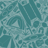 The tourist equipment. Seamless pattern Royalty Free Stock Images