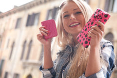 Tourist in europe spending some money Stock Photo