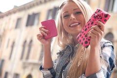 Tourist in europe spending some money Stock Photo