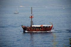 Tourist excursion boat, Meganissi Royalty Free Stock Image