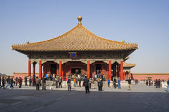 Tourist explore the Forbidden City Royalty Free Stock Image