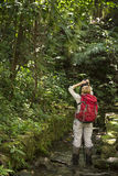 Tourist exploring at Palenque rainforest in Mexico Stock Images