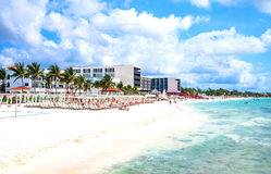 Tourist facilities and nature of Playa Del Carmen Stock Images