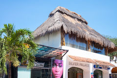 Tourist facilities and nature of Playa Del Carmen Stock Image