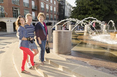 Tourist Family In Charleston SC Stock Photography