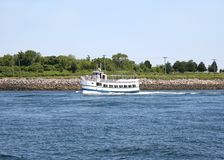 Tourist Ferry on the Canal Royalty Free Stock Photos